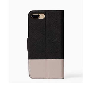 sale!kate spade new york-手帳タイプiPhone7plus-black/pebble