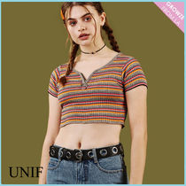 【UNIF】2017SS☆ UNIFロゴ入りリング ボーダー ミニトップス♪