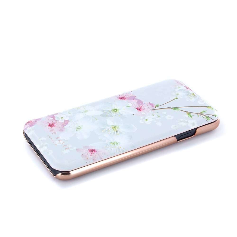 ☆TED BAKERフローラル手帳型鏡付iPhoneケース3色☆送関込