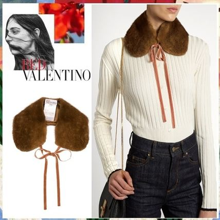 Elegance RED VALENTINO mink fur 100% with a fur collar