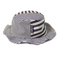 AJO AJOBYAJO(アジョ バイ アジョ) ハット ★AJO AJOBYAJO★17ss  Stripe Bucket Hat (Black/Ivory)