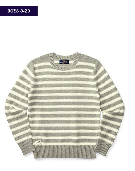 新作♪国内発送 STRIPED COTTON SWEATER boys 8~20