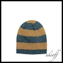 GUCCI(グッチ) ニットキャップ・ビーニー Knitted metallic striped beanie hat