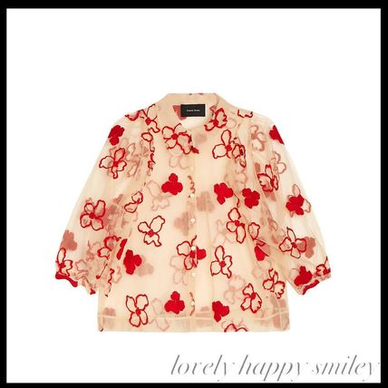 EXCLUSIVE Spooky flower-embroidered blouse