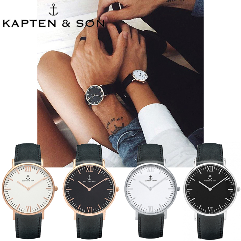 KAPTEN & SON ☆ CAMPUS  /  BLACK 40mm