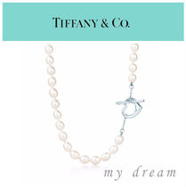日本未入荷♪【Tiffany & Co】Open Heart Pearl Necklace