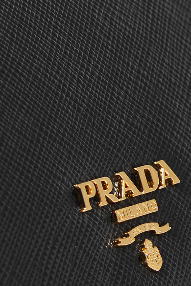 ★関税負担★PRADA★TEXTURED-LEATHER CONTINENTAL WALLET