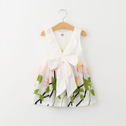 Behind the Ribbon flower embroidered dress