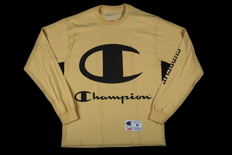 SS17 SUPREME CHAMPION L/S TEE PALE GOLD S-XL 金 送料無料
