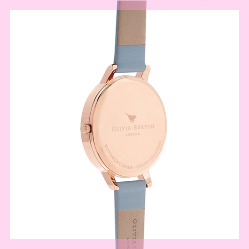 ★Olivia Burton★ WHITE DIAL CHALK BLUE & ROSE GOLD Watch