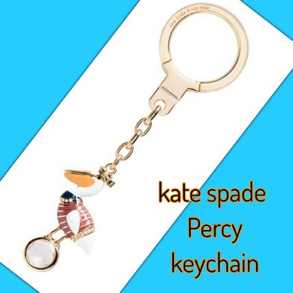 kate spade /キーリング/ percy keychain (ペリカン)
