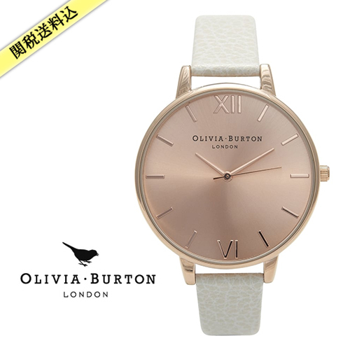 ★Olivia Burton★ BIG DIAL MINK AND ROSE GOLD 腕時計