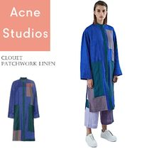 ACNE Clouet lin long patchwork dressリネンパッチワークドレス
