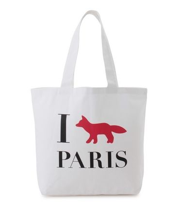 Immediate delivery MAISON KITSUNE 17SS TOTE BAG I FOX PARIS