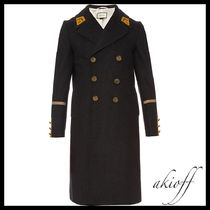 GUCCI(グッチ) ピーコート Double-breasted wool and cashmere-blend overcoat