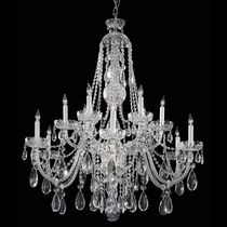 12-light Polished Chrome/Swarovski Strass Crystal Chandelier