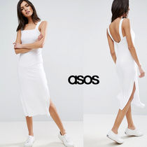 ★最短翌日発送★ASOS Square Neck Column Ribbed Vest Dress