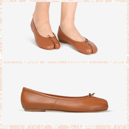 Maison Margiela spring summer TABI ballet shoes and Brown
