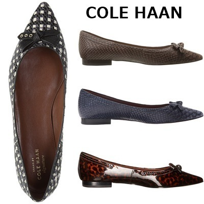 SALE★COLE HAAN フラットシューズ Alice Bow Skimmer★