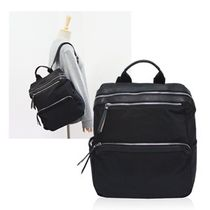★[Daily Backpack]天然牛革ツイルレザーバックパック pp114
