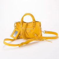 BALENCIAGA CLASSIC MINI CITY  2WAYバッグ   YELLOW