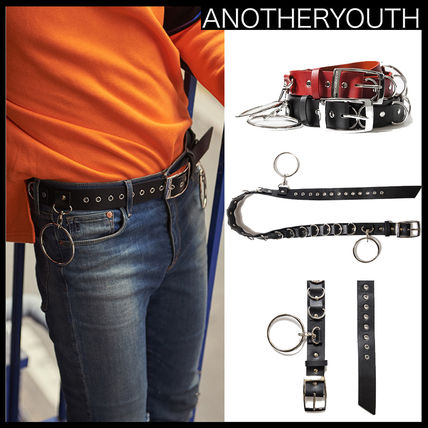 Korea popular ANOTHERYOUTH RING STUD BELT - RED UNISEX