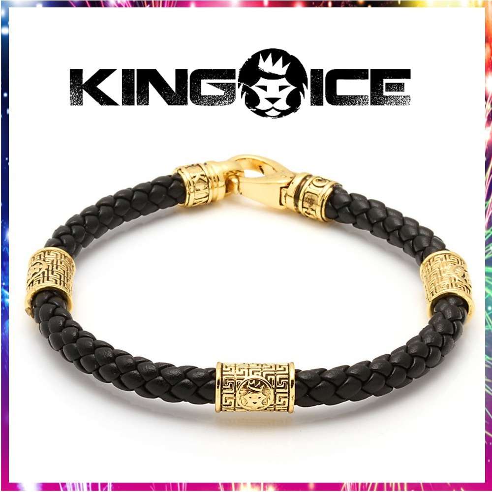 "送料関税込・国内発送☆KING ICE☆""Hook"" Leather Bracelet☆"