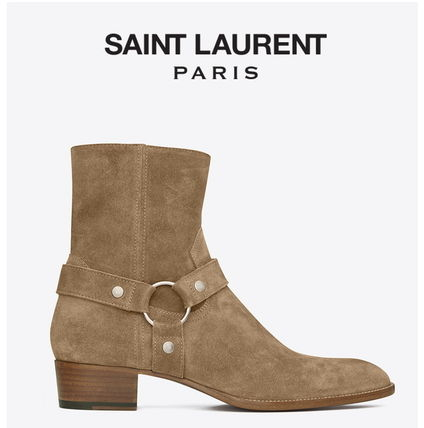 sold out inevitable Saint Laurent WYATT HARNESS BOOT tobacco
