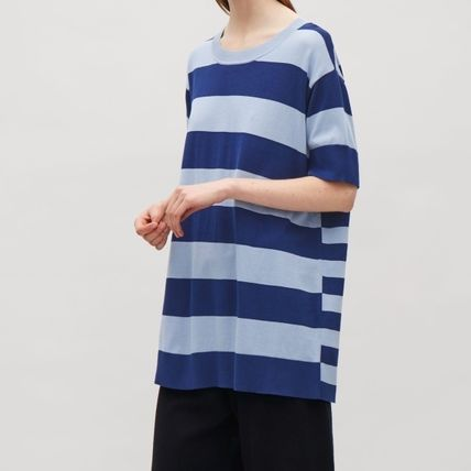 'COS' OVERSIZED LONG TOP BLUE