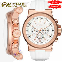 格安! Michael Kors  Rose Gold / White DYLAN ディラン腕時計