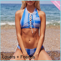 【Lovers+Friends】新作☆ボーダー柄 ホルター ビキニセット