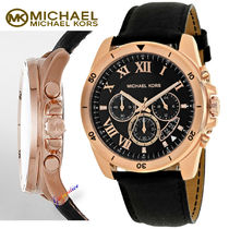 特別価格!Michael Kors Brecken Black Dial Mens Chronograph