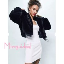 Missguided(ミスガイデッド) ムートン・ファーコート londunn + missguided〓faux fur hooded jacket