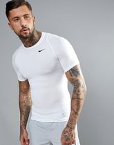 ASOS(エイソス) フィットネスその他 Nike Training Compression T-Shirt In White 703094-100
