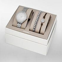 Fossil(フォッシル) 腕時計その他 Suitor Three-Hand Stainless Steel Watch and Jewelry Gift Set
