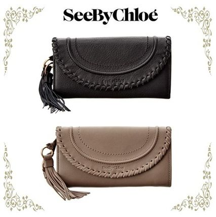 Polly Leather フラップ長財布★See by Chloe★2色★関税込!