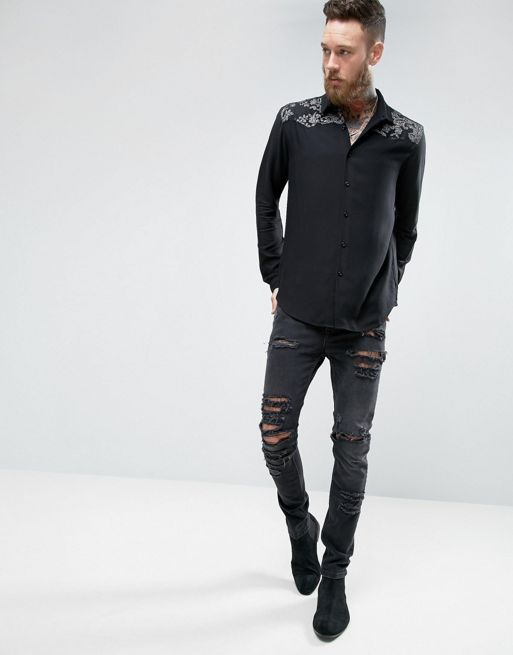 ★日本入荷★ ASOS Regular Fit Shirt With Metall 大人気シャツ
