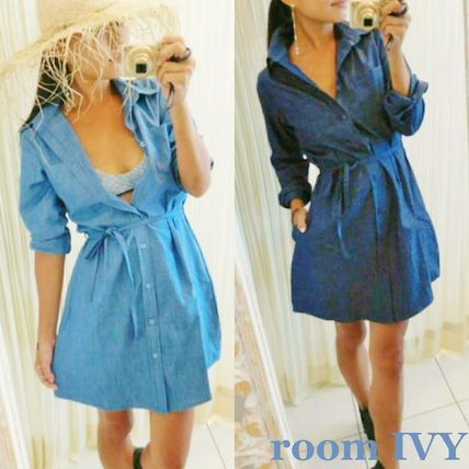 roomIVY adult casual DENIM shirt dress JeanDS