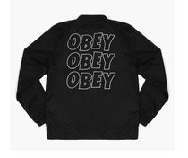 OBEY/STATIC GRAPHIC JACKET-BLK