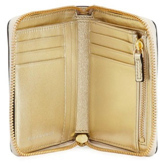 【Tory Burch】Square Crinkled Leather Zip Wallet【ミニ財布】