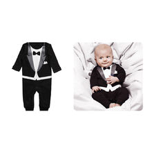 ★THE TINY UNIVERSE ★Boys Black 'The Tiny Suit' Babygrow