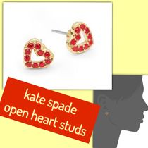 kate spade / ピアス/ love list pave open heart studs(ハート)