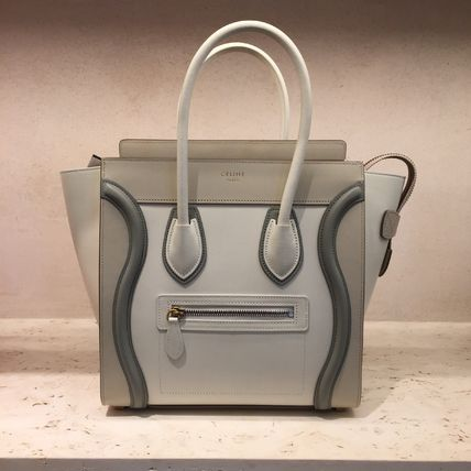 Celine【Micro Luggage】ラゲージ トリコロール☆Natural☆