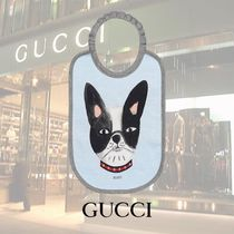 GUCCI Baby/ドッグ プリント コットン ビブ