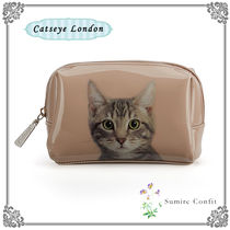 Catseye London 国内発送★かわいいネコ★TABBY ON TAUPE ポーチ
