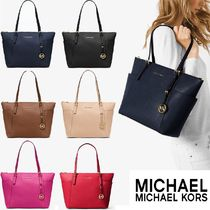 ☆MICHAEL Michael Kors☆Jet Set Large Top-Zip  Leather Tote