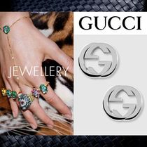 新作【Gucci】グッチ★Silver interlocking G earring★ピアス