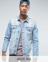 デニムジャケット TALL Denim Jacket in Mid Wash With Rip ASOS