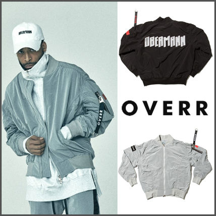OVERR genuine SHIRRING Ma-1 jackets /