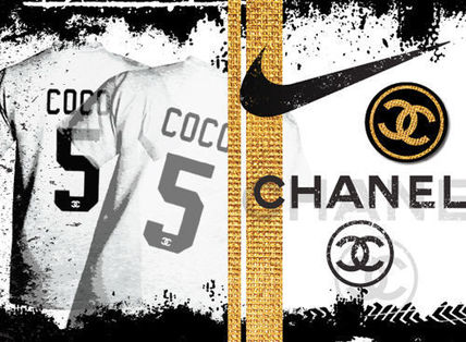F6 canvas COCO Chanel x Nike motif